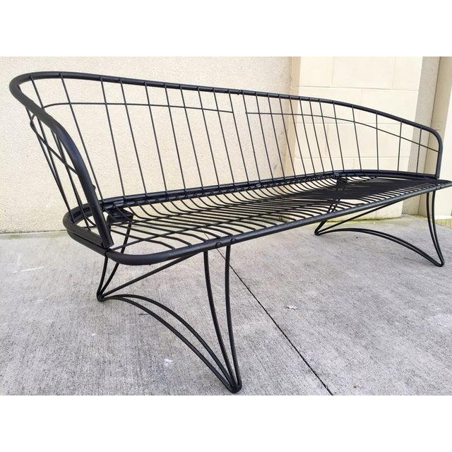 Mid Century Outdoor Furniture: Mid-Century Modern Homecrest Metal Patio Sofa