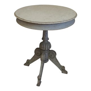Swedish Center Table with Carved Pedestal