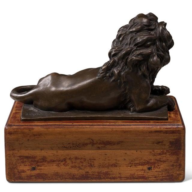Sarreid LTD Reclining Bronze Lion - Image 2 of 2