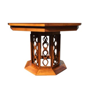 Mid Century Modern Sculpted Wood Dining or Foyer Table