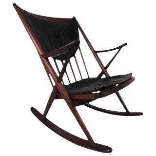 Mid-Century Sculpted Rocking Chair