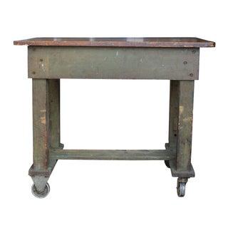 Green Weathered Workbench