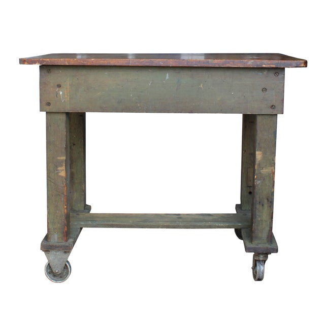Image of Green Weathered Workbench