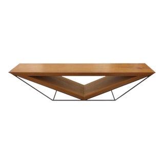 21st Century Brazilian Imbuia Wood Sculptural Bench by Leonardo Bueno