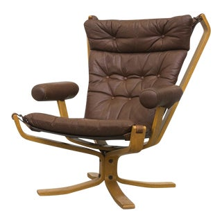 Falcon High Back Leather Lounge Chair