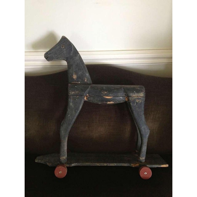 Primitive French Carved Toy Horse - Image 3 of 6