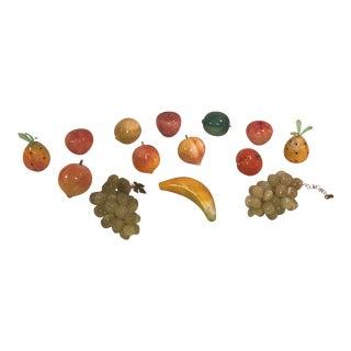 Mid-Century Marble Fruits - Set of 14