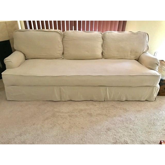 Restoration Hardware English Roll Arm Slipcovered Sofa