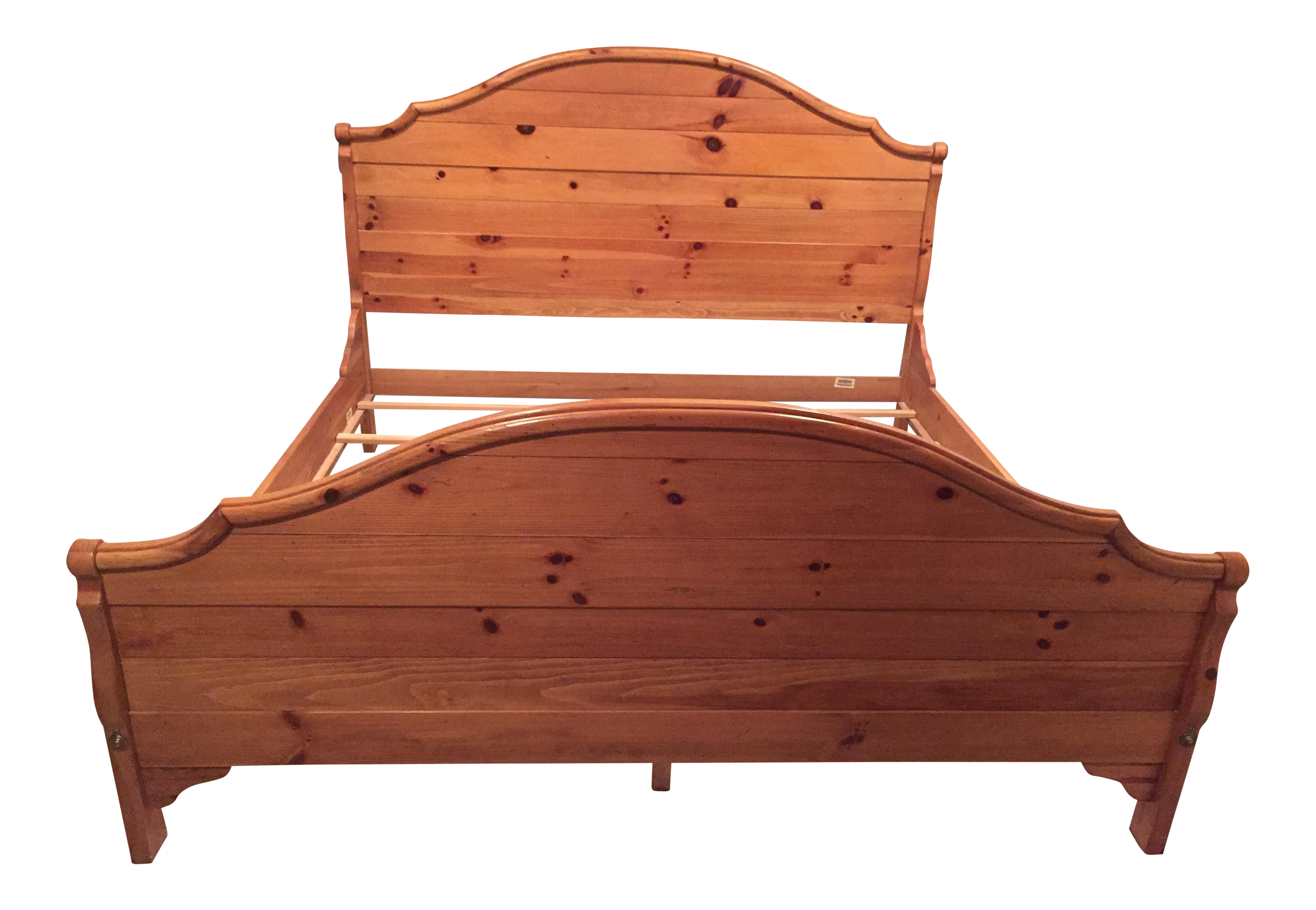 Great Ethan Allen Wood King Sized Bed