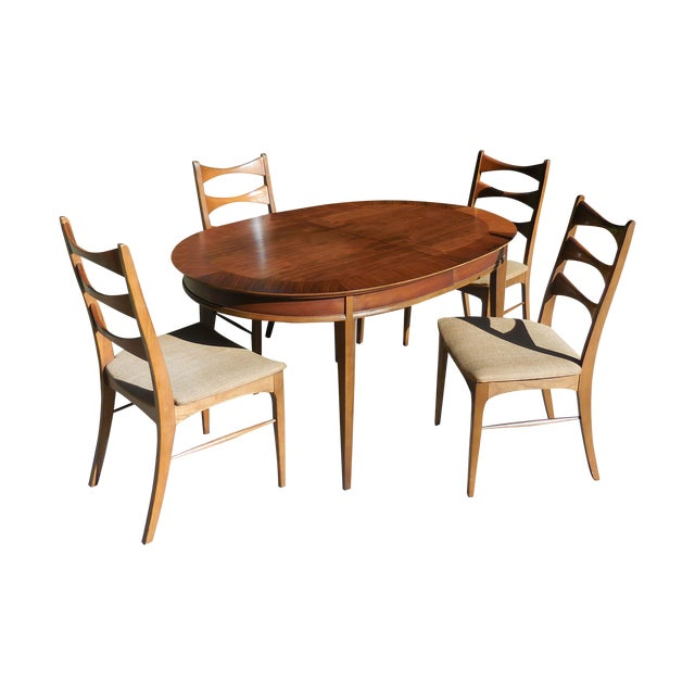 Mid-Century Lane Wood Dining Set - Image 1 of 9