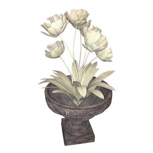 Shabby Chic Painted Metal French Flower Topiary - Image 1 of 4