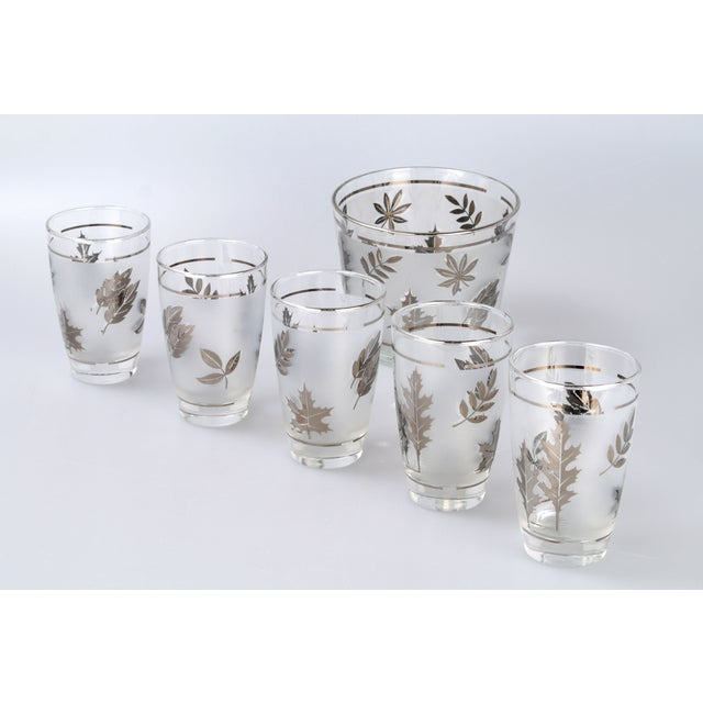 Silver Leaf Drinking Glasses Set - Set of 6 - Image 6 of 7