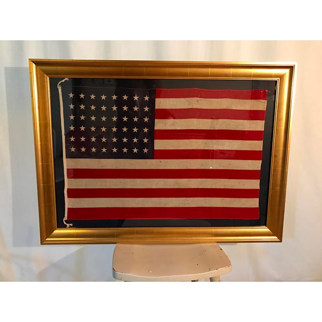 Rare Original 48 Star Newly Framed American Flag - Image 3 of 6