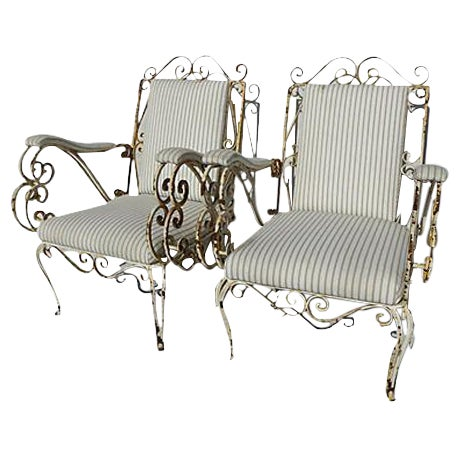 French Style Veranda Chairs - Pair - Image 1 of 7
