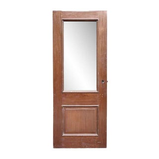Mahogany Raised Panel Door With Half Lite