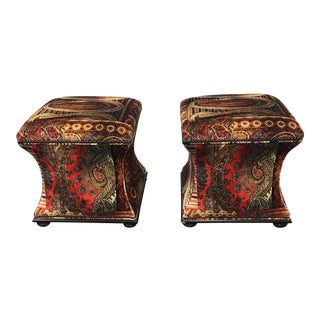 Hickory Chair Charles Hassocks Ottomans - A Pair