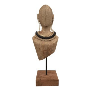 Native American Barn Wood Bust