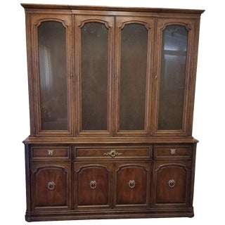 Henredon Breakfront China Cabinet