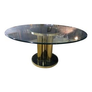 Master Craft Brass Mirrored Drum Table Base