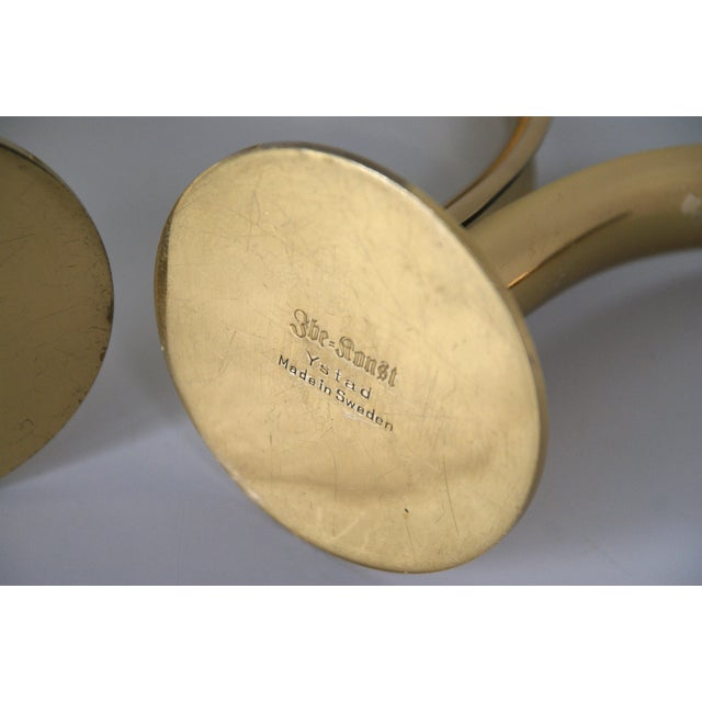 Ystad Brass Lily Candleholders - A Pair - Image 9 of 9
