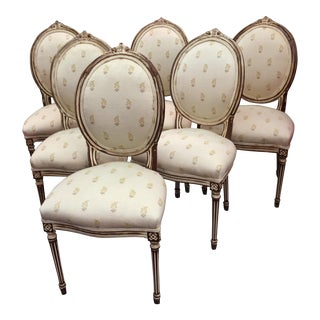 Antique French Dining Chairs - Set of 6