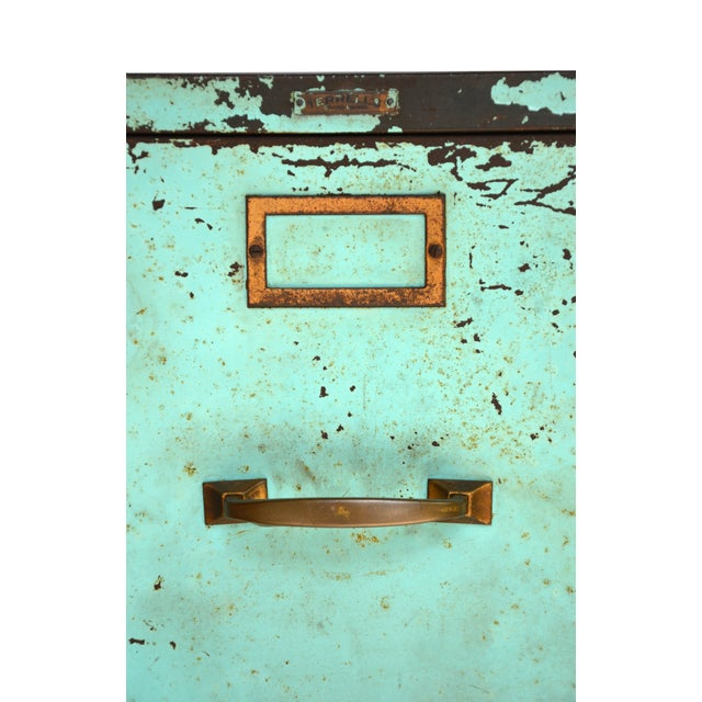 Industrial Turquoise Filing Cabinet - Image 7 of 7