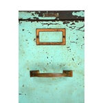 Image of Industrial Turquoise Filing Cabinet