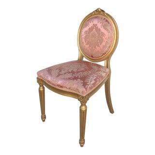 European Giltwood Accent Chair