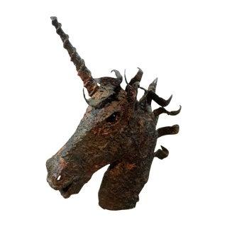 Ricardo Preciado Unicorn Brutalist Metal Sculpture