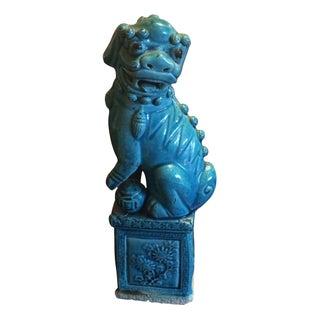 Turquoise Foo Dog Statue