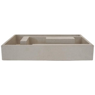 The Carlo I Cast Concrete Planter