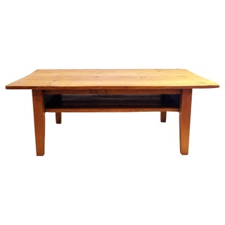 Large Custom Coffee Table W/ Game Shelf