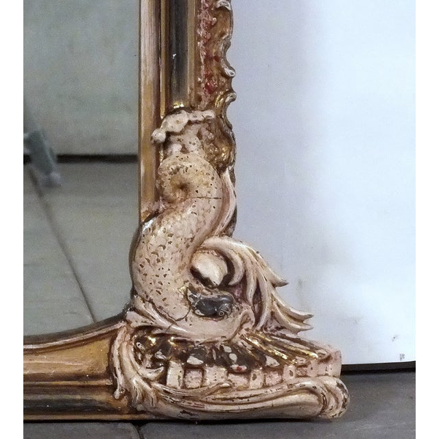 Late-19th Century Large Standing Italian Mirror - Image 8 of 9