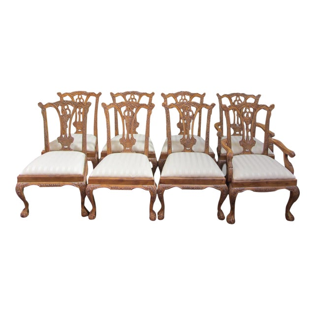 Toscano Chippendale Dining Chairs - Set of 8 - Image 1 of 9