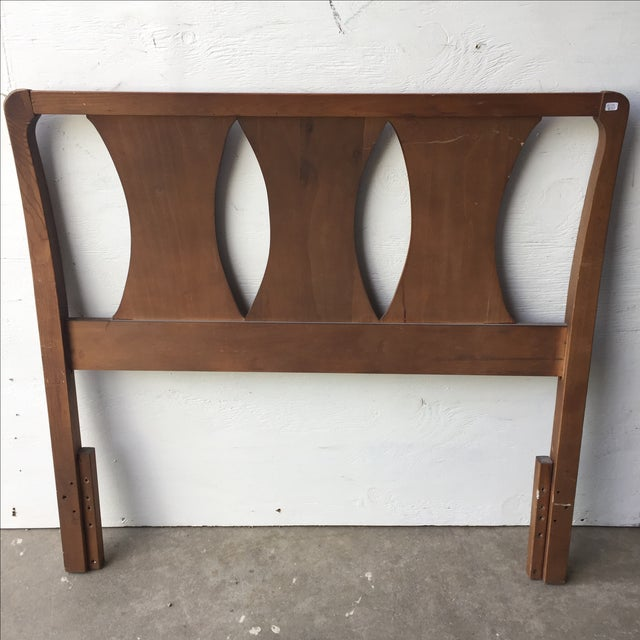 mid century modern kent coffey twin headboard chairish. Black Bedroom Furniture Sets. Home Design Ideas