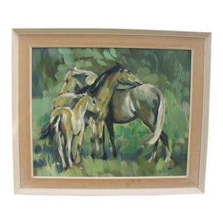 1961 Abstract Horses Painting
