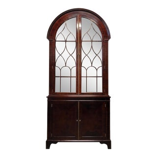 BAKER Historic Charleston Mahogany Bonnet Top China Curio Cabinet
