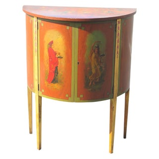 Adams Style Figural Demilune Stand