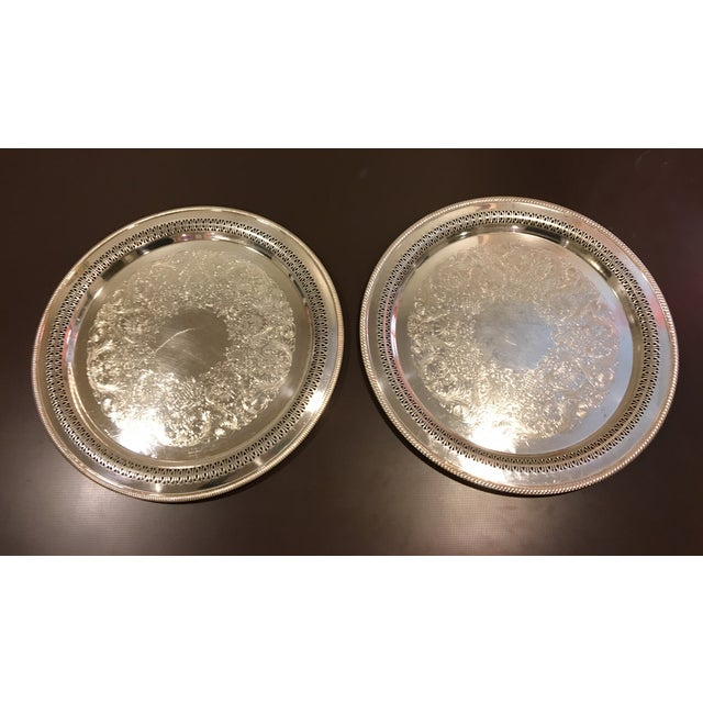 W.M. Rogers Silverplate Trays #162 & 4272p - Pair - Image 6 of 10