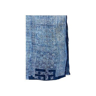 Asian Hand Loomed Hemp Linen Batik Textile Panel