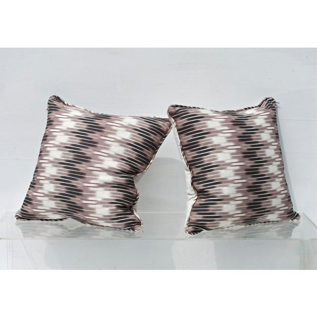 Ikat Pillows in Christopher Farr Cloth - A Pair - Image 4 of 7