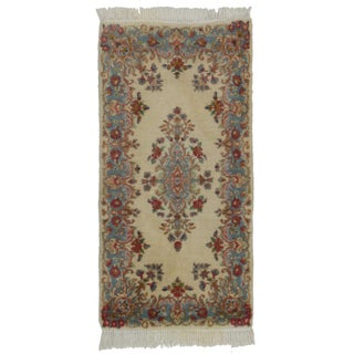 Persian Kerman Wool Rug - 2′ × 4′