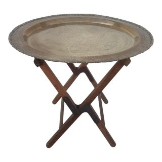 Moroccan Brass Tray Table & Camp Stool Base