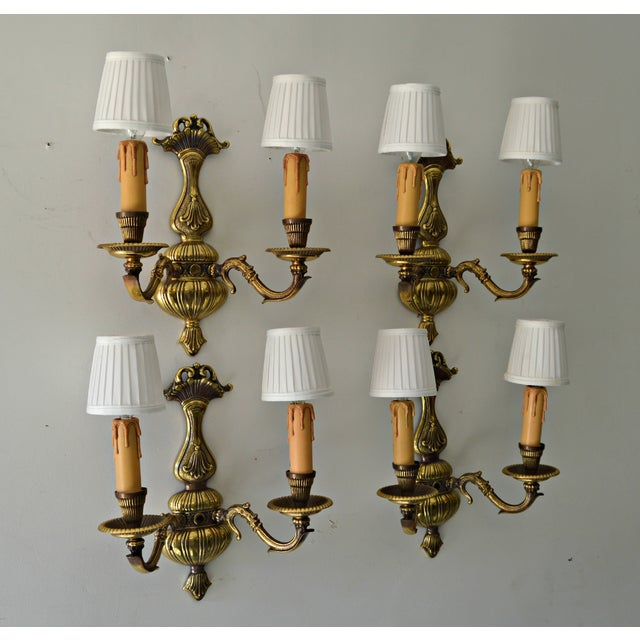 French Boudoir Sconces - Set of 4 - Image 8 of 8