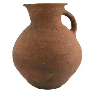 Rug & Relic Vintage Etched Earthenware Pottery Vase