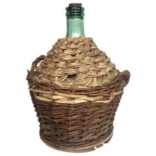 1960s Vintage Demijohn Wine Bottle