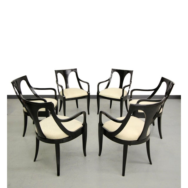 Image of Black Mid Century Modern Dining Chairs - Set of 6