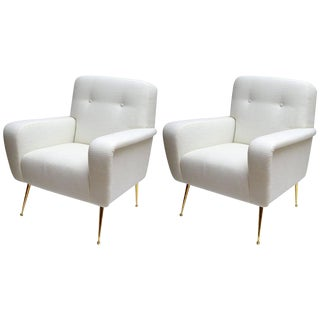 Italian Armchairs in the style of Gianfranco Frattini, Pair