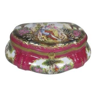 French Porcelain Dresser Box