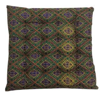 Vintage Silk Meditation Pillow